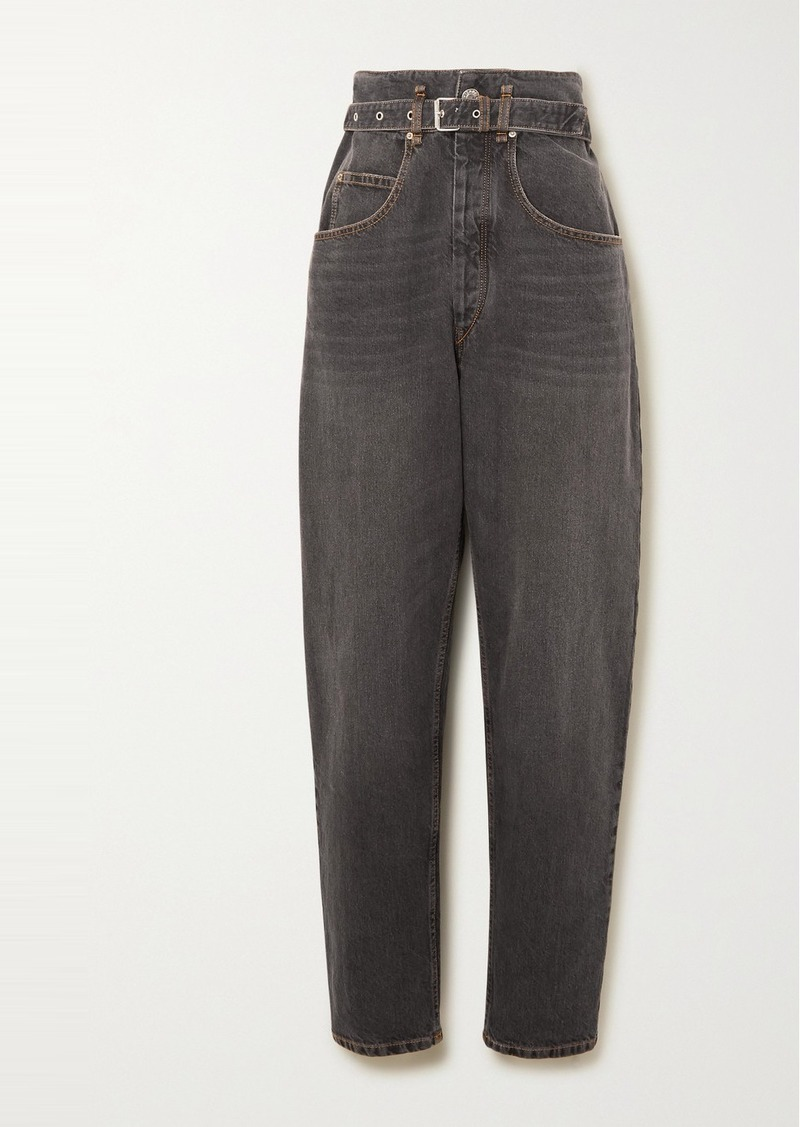 Isabel Marant Gloria Belted High-rise Tapered Jeans