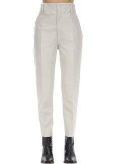 Isabel Marant Goah High Waist Cotton Canvas Pants