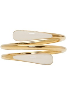 Isabel Marant Gold & Off-White Resin Ring