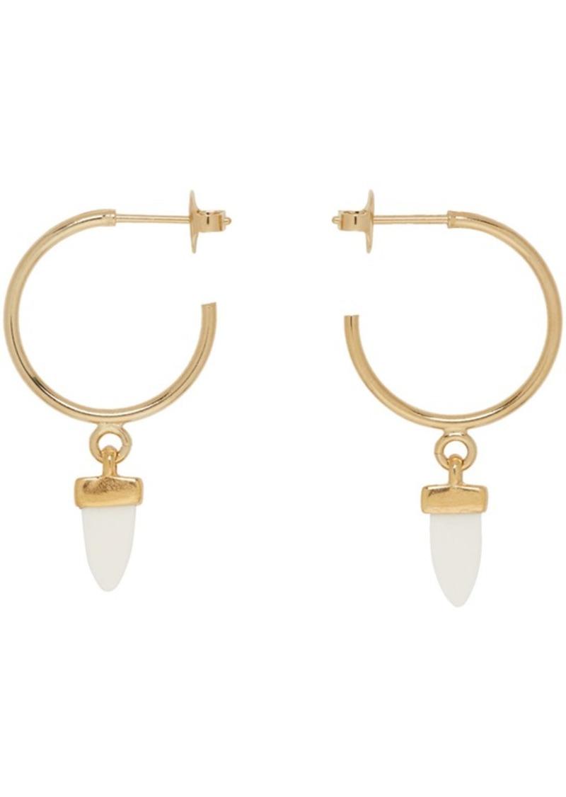 Gold Horn Hoop Earrings