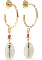 Isabel Marant Gold-tone Shell Earrings