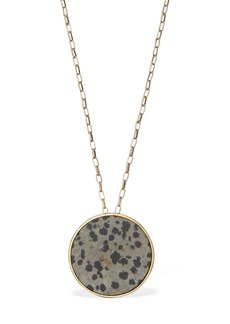 Isabel Marant Golden Mother Long Necklace W/ Stone