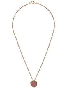 Isabel Marant Golden Mother Short Necklace W/ Stone