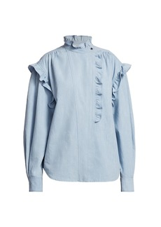 Isabel Marant Gossia High-Neck Denim Shirt