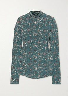 Isabel Marant Goyela Floral-print Stretch-jersey Top