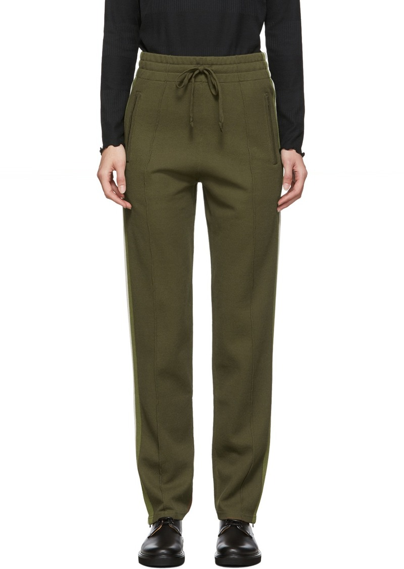 Isabel Marant Green Knit Docia Sporty Lounge Pants