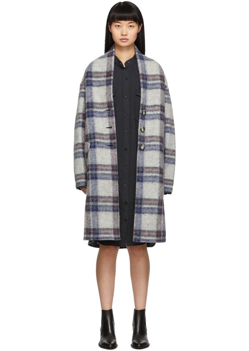 Isabel Marant Grey Check Gabriel Coat