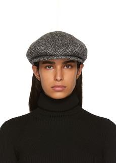 Isabel Marant Grey Herringbone Gabor Cap