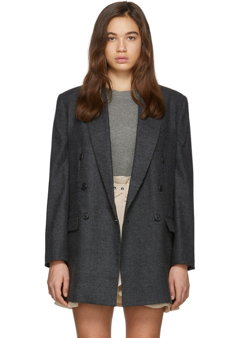 Isabel Marant Grey Wool Eagan Double-Breasted Blazer