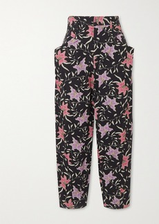 Isabel Marant Gubaia Cropped High-rise Floral-print Tapered Jeans