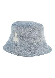 Isabel Marant Haley Denim Logo Bucket Hat