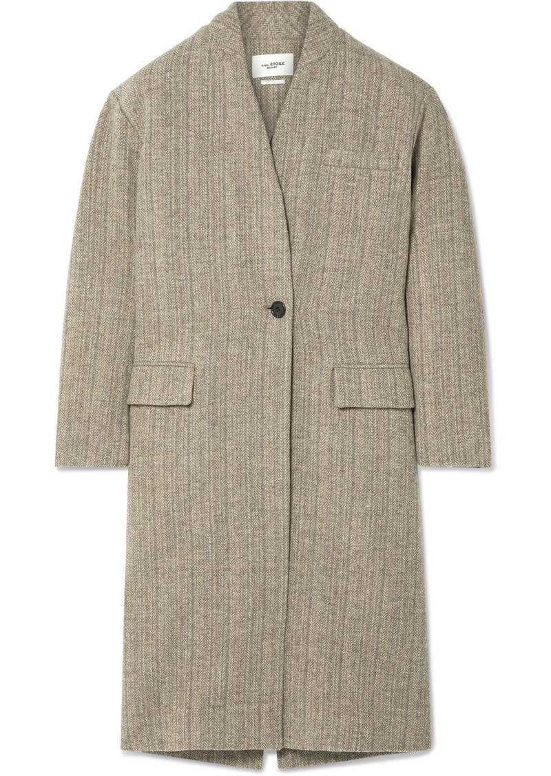 Isabel Marant Henlo Herringbone Wool Coat