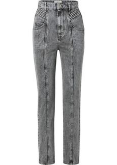 Isabel Marant Henoya Acid-wash High-rise Slim-leg Jeans