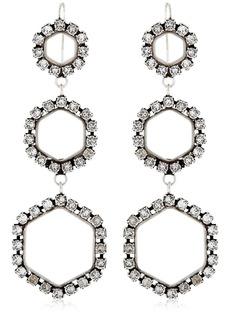 Isabel Marant Hexagon Crystal Drop Earrings