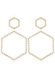 Isabel Marant Hexagon Crystal Earrings