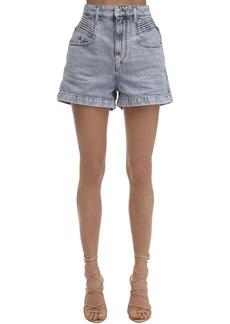 Isabel Marant Hiana High Waist Cotton Denim Shorts