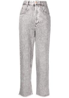 Isabel Marant high-rise acid-wash straight-leg jeans