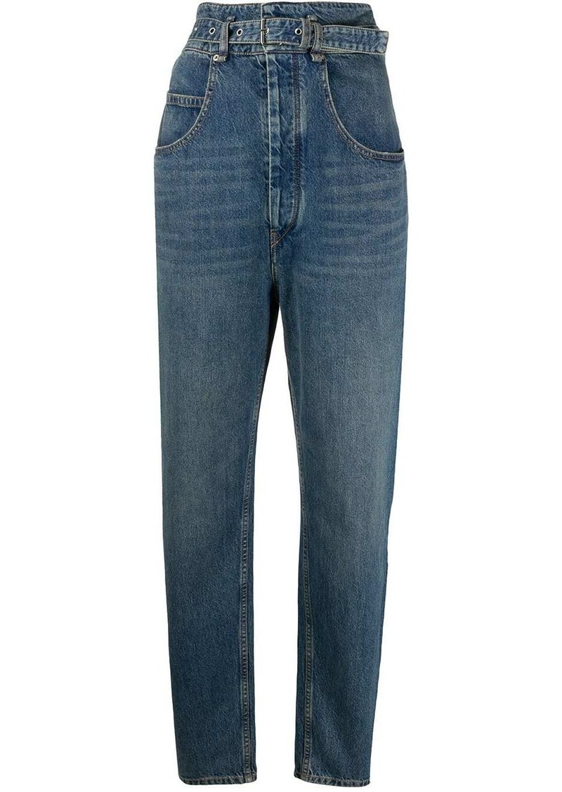 Isabel Marant high-rise belted jeans