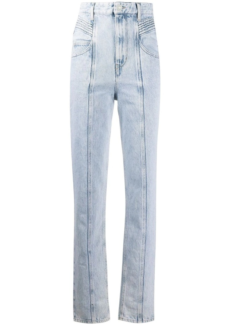 Isabel Marant high-rise pleat panel jeans