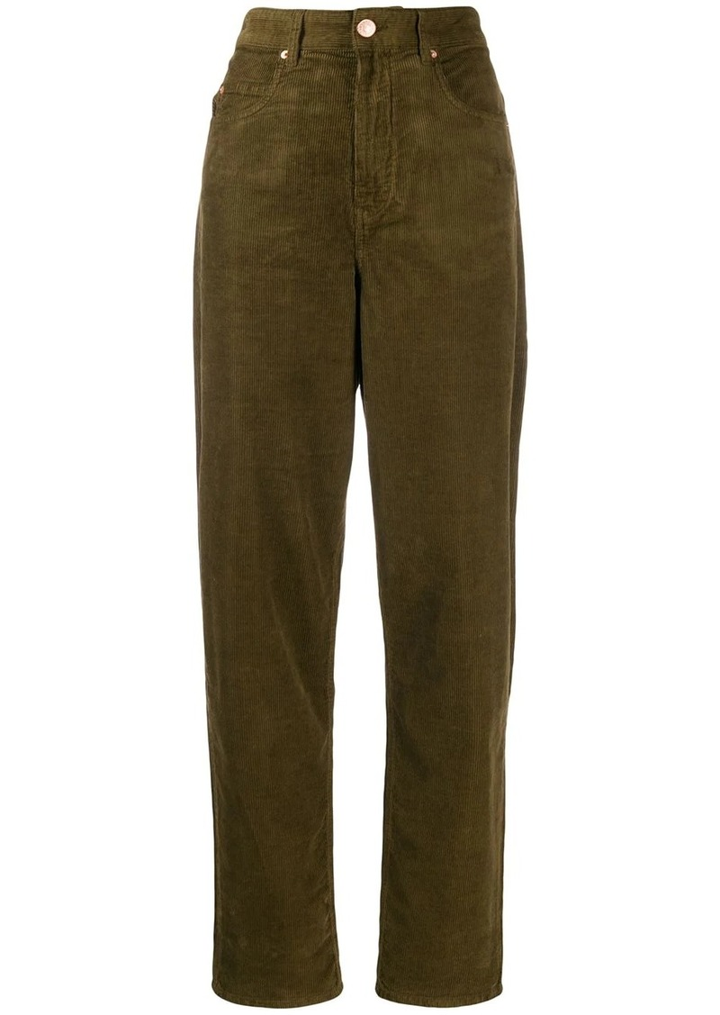 Isabel Marant high-waisted corduroy trousers