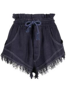 Isabel Marant high-waisted frayed drawstring shorts