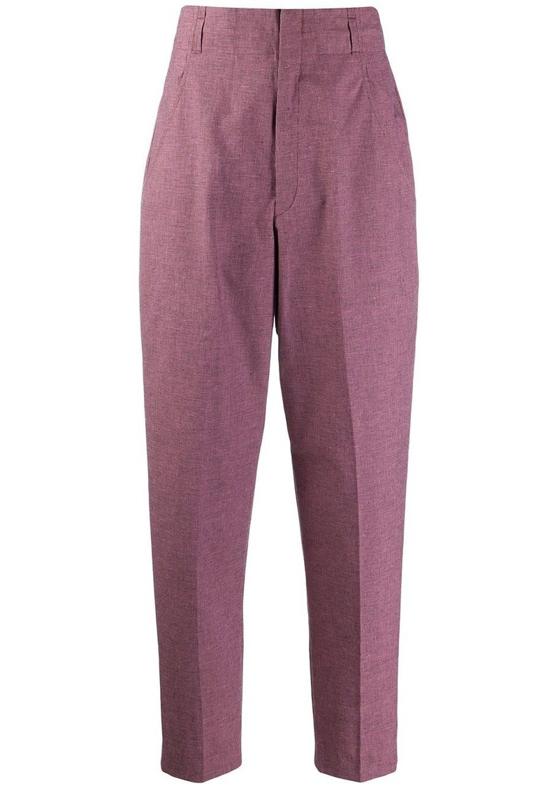 Isabel Marant high waisted Loulia checked trousers
