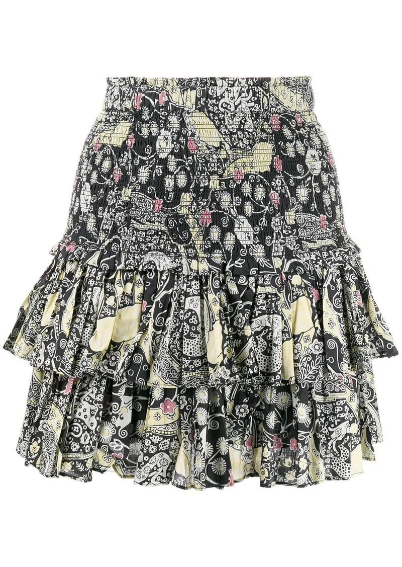 Isabel Marant high waisted ruffled mini skirt