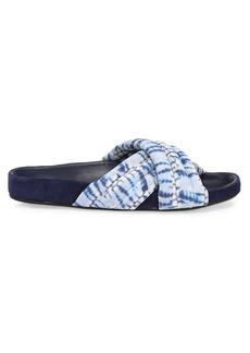 Isabel Marant Holden Tie-Dye Leather Slides