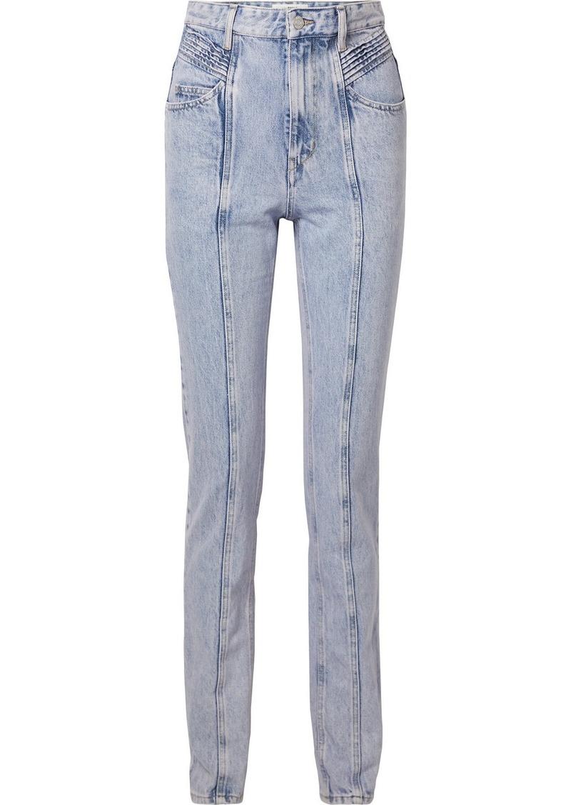 Isabel Marant Hominy Acid-wash High-rise Slim-leg Jeans