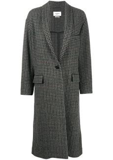 Isabel Marant houndstooth single breasted coat