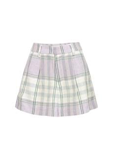 Isabel Marant Ilabot Check Linen Shorts
