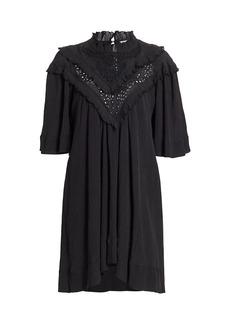 Isabel Marant Inalio Ruffle Trim Shift Dress