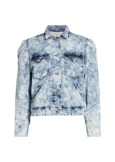 Isabel Marant Iolinea Acid Wash Denim Jacket