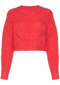 Isabel Marant Iroen cropped mohair-blend jumper