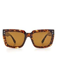 Isabel Marant 55mm Rectangle Sunglasses