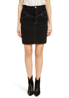 Isabel Marant '80s High Waist Denim Skirt