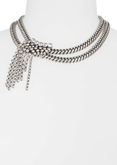 Isabel Marant A Wild Shore Crystal Chain Collar Necklace