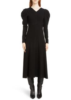 Isabel Marant Abi Puff Sleeve Dress
