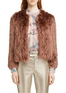 Isabel Marant Agga Genuine Alpaca Fur Coat