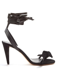 Isabel Marant Akynn wraparound leather and suede sandals