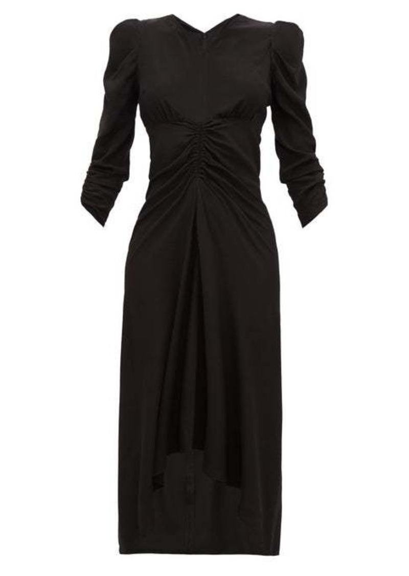 Isabel Marant Albi gathered silk-satin dress