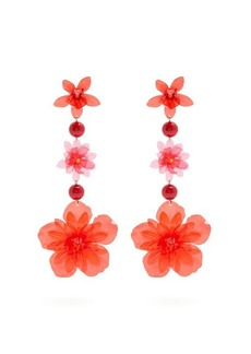 Isabel Marant Aloha flower and bead-embellished earrings