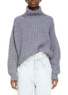 Isabel Marant Alpaca & Mohair Blend Chunky Funnel Neck Sweater