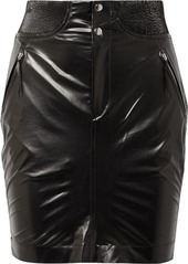Isabel marant isabel marant amel ribbed knit trimmed coated silk mini skirt abveae83e17 a