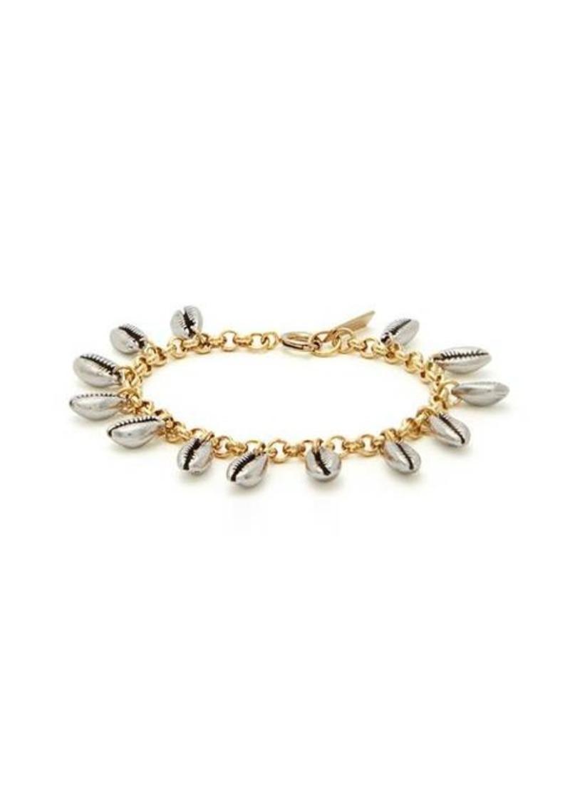 Isabel Marant Amer shell-charm chain bracelet