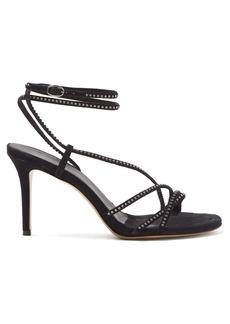 Isabel Marant Amspee crystal-embellished suede sandals