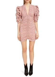 cfdd389b01ab Isabel Marant Isabel Marant Ulia Leopard-Print Velvet Midi Dress Now ...