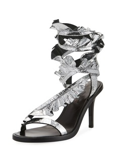 Isabel Marant Ansel Ruffled Ankle-Wrap Sandals