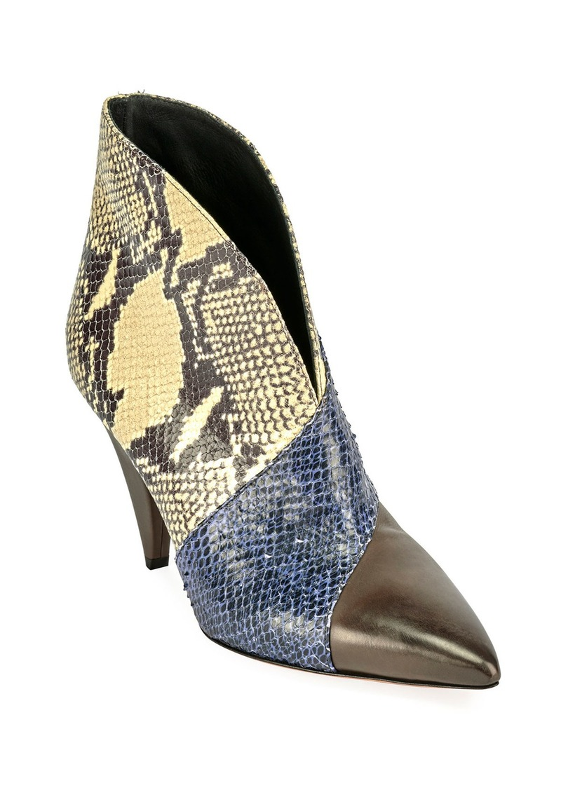 Isabel Marant Archenn 90mm Patchwork Leather Booties