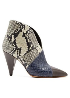 Isabel Marant Archenn snake-effect leather ankle boots